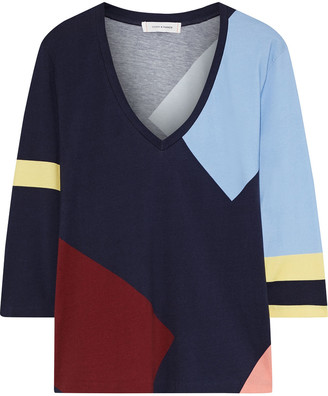 Chinti and Parker Color-block Cotton-jersey Top
