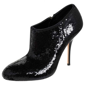 Gucci Black Glitter Ankle boots