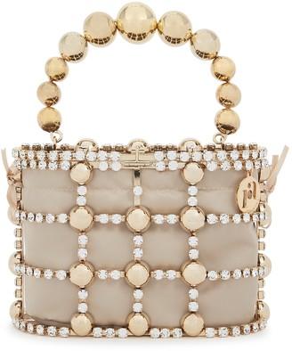 Rosantica Holli crystal-embellished top handle bag