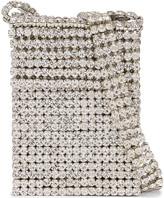 Area Crystal Flapper Mini Bag in Clear Crystal & Silver | FWRD