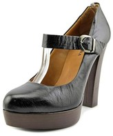 Halmanera Friend Round Toe Leather Mary Janes.