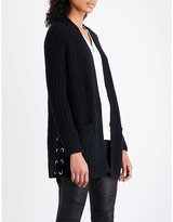 The Kooples Sport Lace-up wool-blend cardigan
