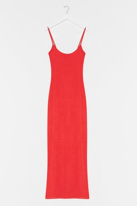 Nasty Gal Womens Strappy Maxi In Heavy Viscose - Coral