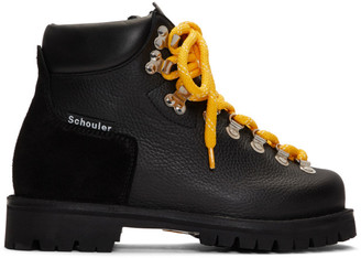 Proenza Schouler Black Lace-Up Hiking Boots