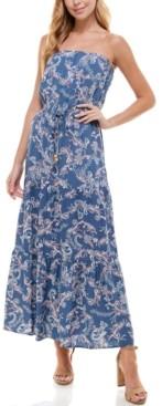 BeBop Juniors' Strapless Maxi Dress