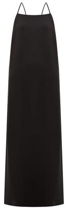 La Collection - Maricella Square-neck Silk-crepe Slip Dress - Womens - Black