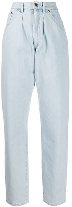 Alberta Ferretti High-Rise Tapered Jeans