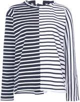 Sacai lace back breton top - women - Cotton - 2