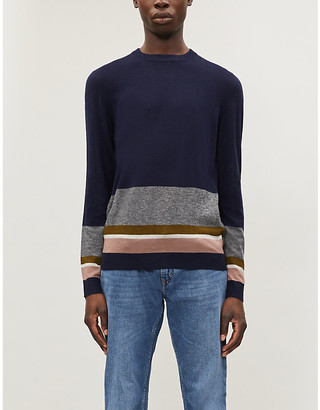 Ted Baker Colour-block knitted jumper