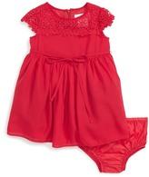 Us Angels Lace Yoke Chiffon Dress (Baby Girls)