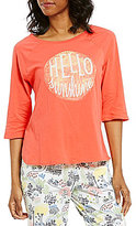 Sleep Sense Hello Sunshine Raglan Jersey Sleep Top