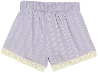 Planet Gold Striped Pull-On Tassel Trim Shorts