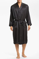Majestic International Men's Dot Silk Robe
