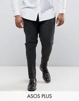 Asos PLUS Super Skinny Smart Pants In Charcoal