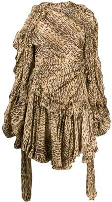 Zimmermann animal print asymmetric mini dress