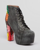 Jeffrey Campbell Lace Up Booties - Lita High Heel