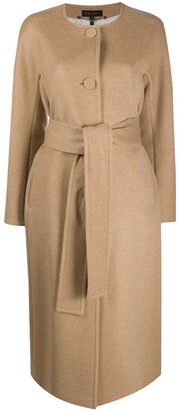 Escada Belted Single-Breasted Coat