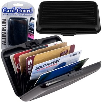 Trademark Home Collection Aluminum Credit Card Wallet - RFID Blocking Case - Black