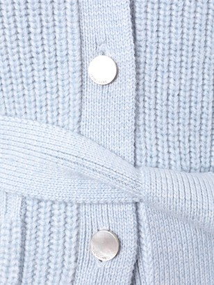 Adam Lippes Blue Slouchy Wool Cardigan