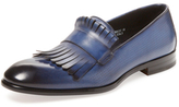 Antonio Maurizi Kilty Fringe Leather Loafer
