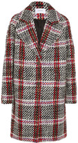 Carven Checked Wool-blend Tweed Coat - Gray