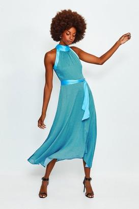 Karen Millen Geo Print High Neck Midi Dress