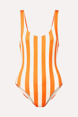 Solid & Striped The Anne-marie Striped Swimsuit - Orange