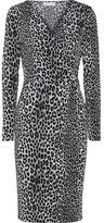 MICHAEL Michael Kors Wrap-Effect Leopard-Print Stretch-Jersey Dress