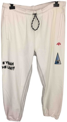 Adidas Originals By Alexander Wang White Cotton Trousers for Women