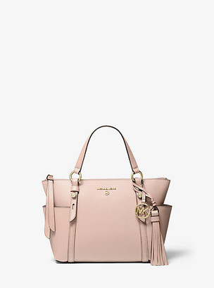 MICHAEL Michael Kors MK Nomad Small Saffiano Leather Top-Zip Tote Bag - Soft Pink - Michael Kors