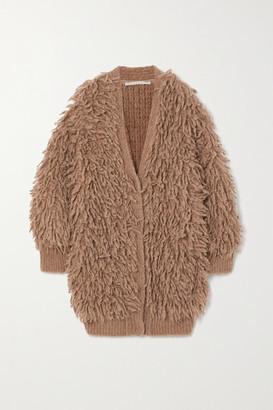 Stella McCartney Fringed Wool Cardigan - Bronze