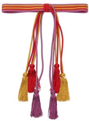 Etro Tasselled Rope Belt - Womens - Pink Multi