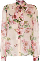 Dolce & Gabbana scarf neck rose blous