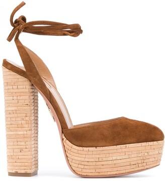 Aquazzura Penelope 140 platform sandals