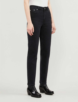 Maje Slim-fit straight high-rise jeans