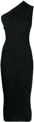 Rick Owens one shoulder knitted dress