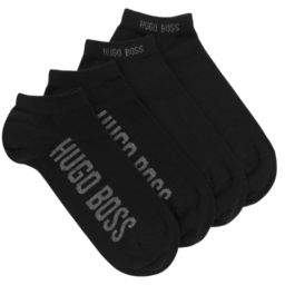 BOSS Two-pack of cotton-blend ankle socks with logos
