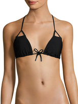 Red Carter Strap Back Triangle Bikini Top