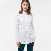 Paul Smith Women's White 'Bee' Motif Cotton-Twill Shirt