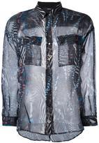 Diesel multi-prints sheer shirt