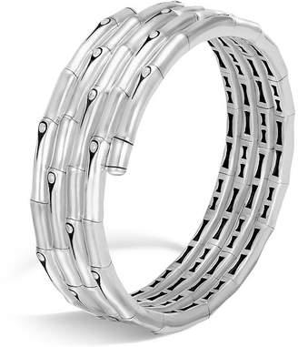 John Hardy Sterling Silver Bamboo Four-Coil Bracelet