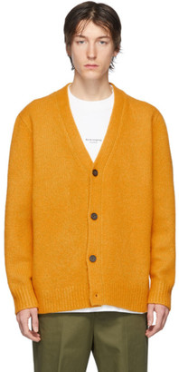 Acne Studios Orange Wool Cashmere V-Neck Cardigan