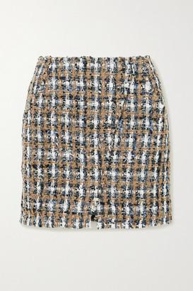 IRO Hunch Checked Boucle-tweed Mini Skirt - Gray