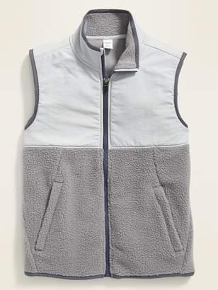 Old Navy Color-Blocked Nylon/Sherpa Vest for Boys