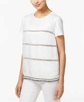 Max Mara Silla Mixed-Media Beaded Top