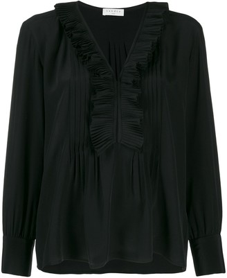 Sandro Paris Long-Sleeved Ruffle Blouse
