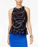 Thalia Sodi Printed Peplum Top, Created for Macy's