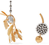Marni Gold-tone, Crystal And Horn Earrings - one size