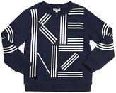 Kenzo Rubberized Printed Cotton Sweatshirt