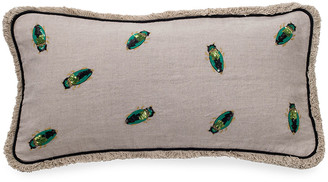 Joanna Buchanan Embroidered Beetle Pillow